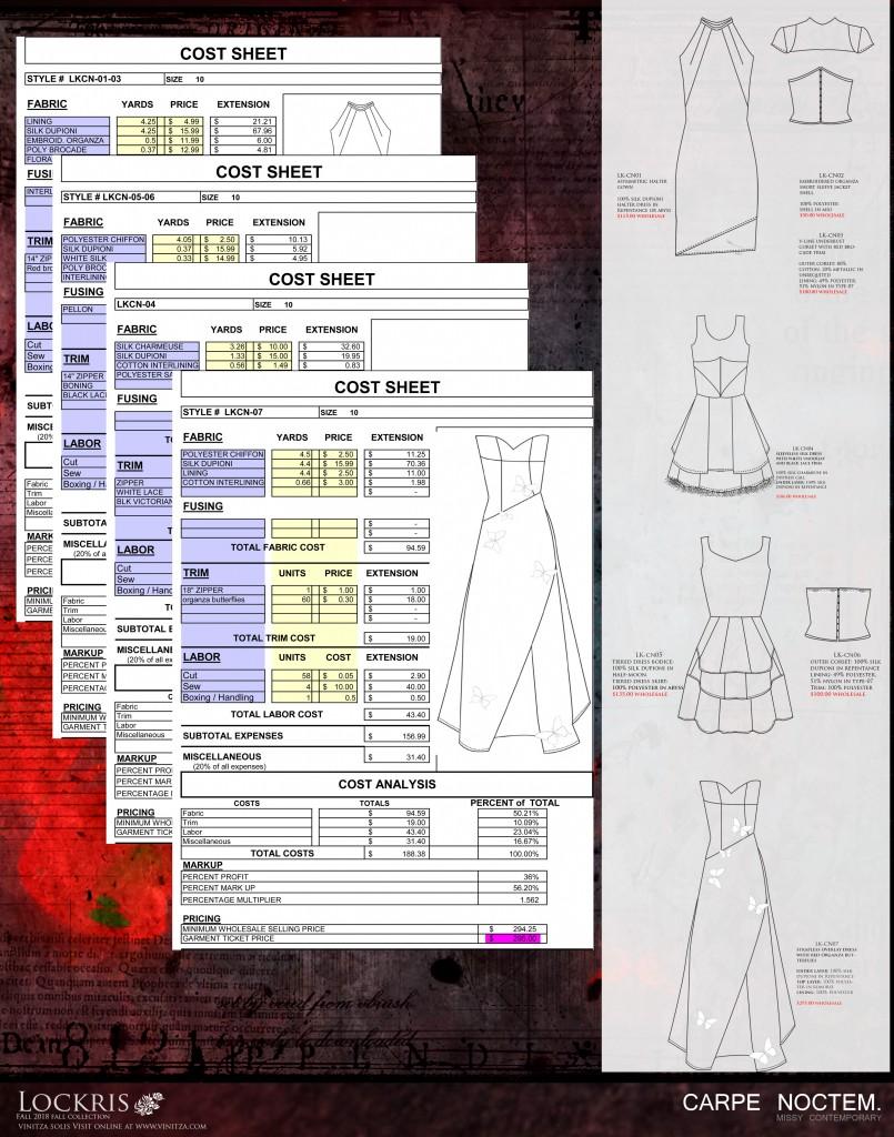 carpenoctem-cost sheets