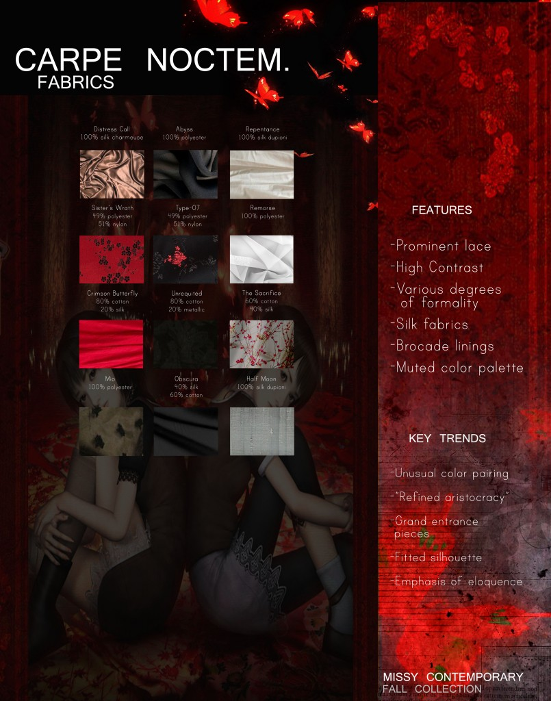 CARPE NOCTEM - fabric page