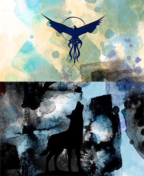 12x16hori-watercolor-phoenix-wolf-feat image